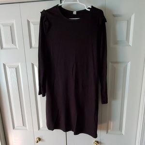 Black Old Navy dress size large ruffle cap sleeve